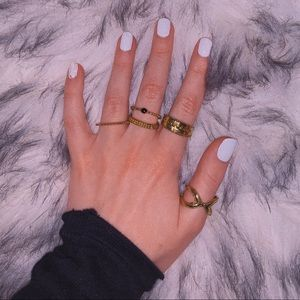5 Boho Stackable Gold Rings